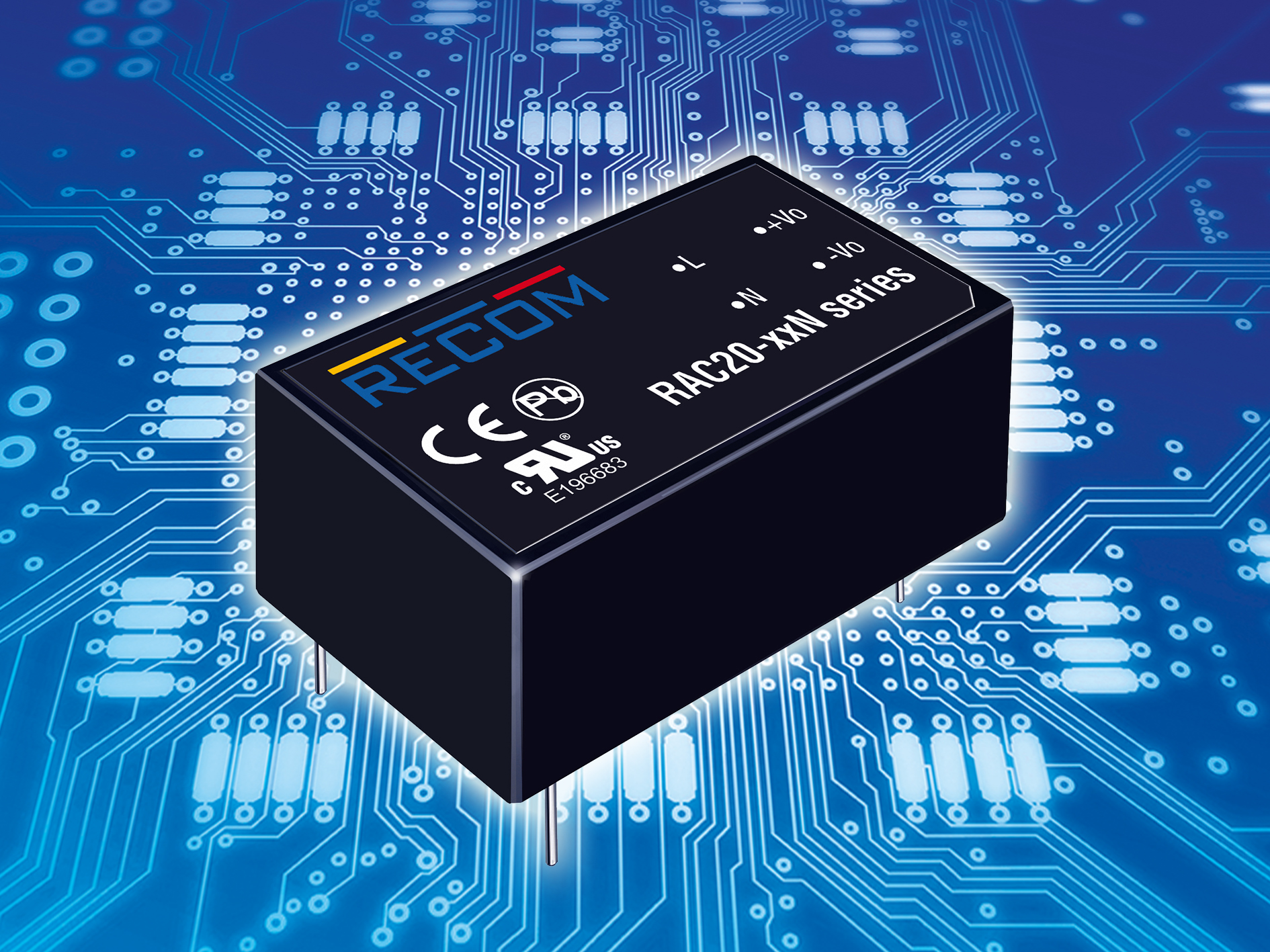 Recom Rac20 N Ac Dc Converter In Modular Design For Mounting Circuit Onto Pcbs