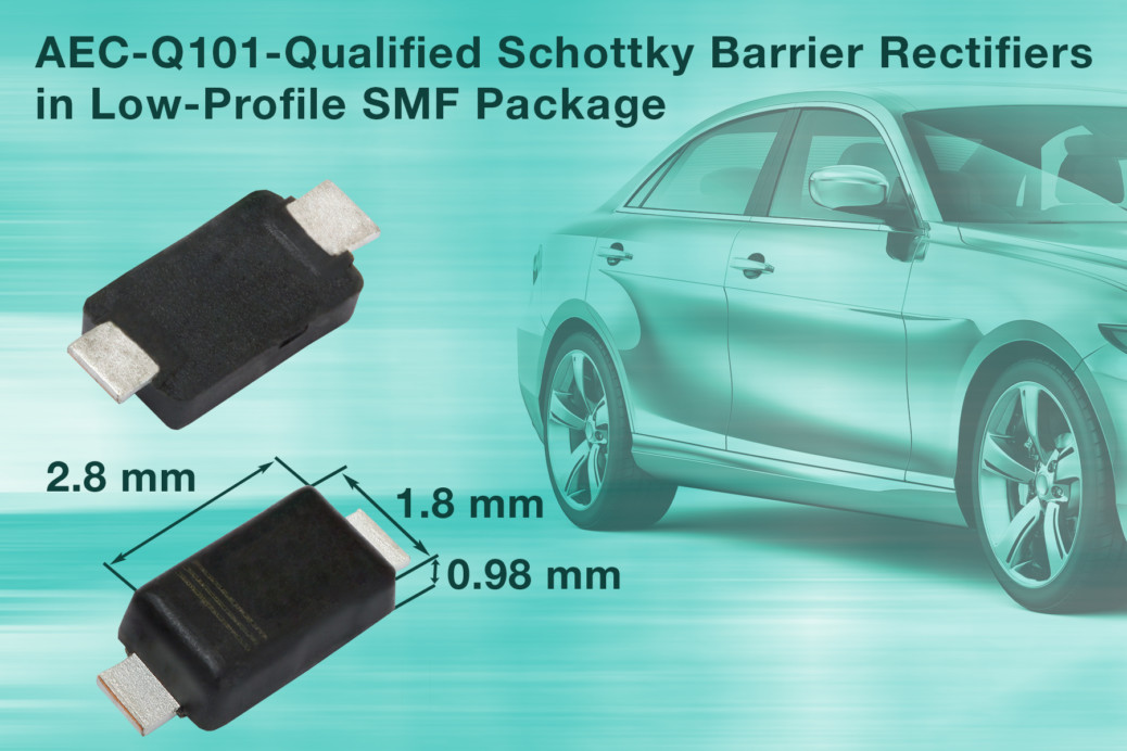 Vishay – New SMD Schottky Barrier Rectifiers Save Space in