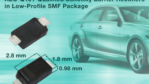Vishay – New SMD Schottky Barrier Rectifiers Save Space in Automotive and Commercial Applications