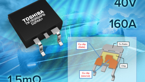 Toshiba Unveils D2PAK+ 40V 160A 1.5mΩ MOSFET for Automotive Applications