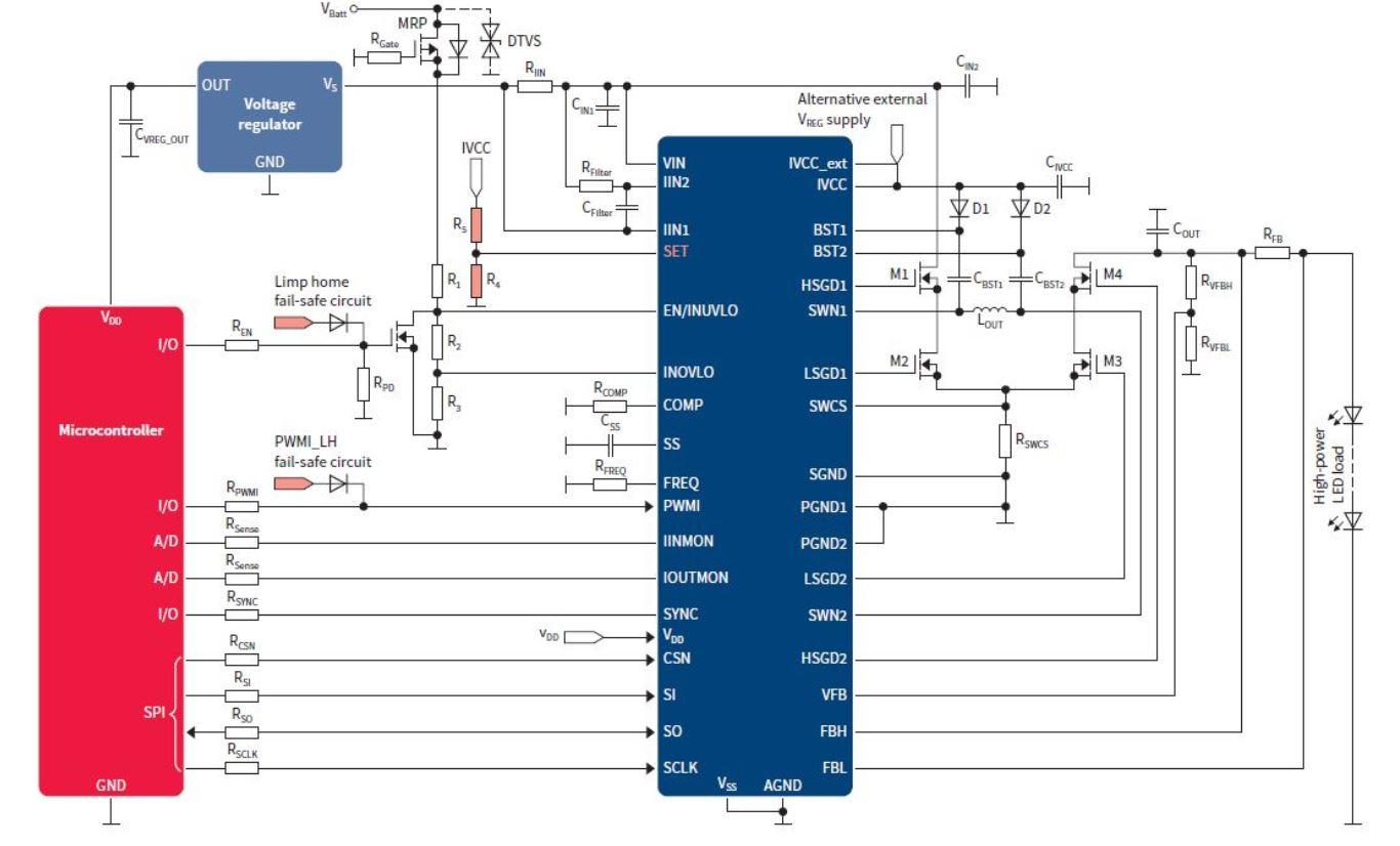 Infineon Tld5541 1qv Litix Power Flex Automotive Led Driver Ic Schematic Of Circuit
