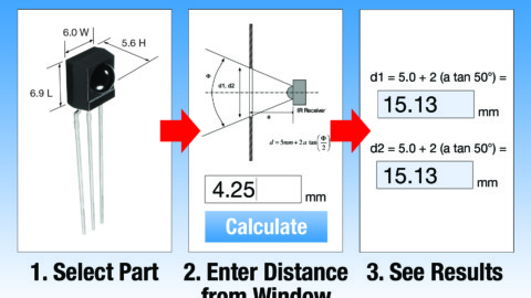 Remote Control Window Sizing Tool for IR Receivers / Transceivers and Optical Sensors