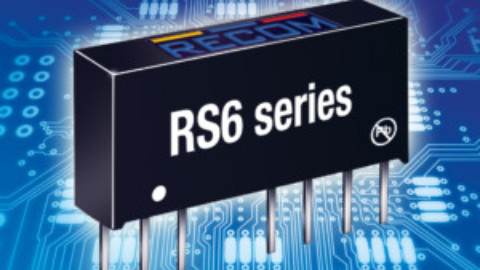 Recom – RS6 Series – Regulated 6W DC/DC converters with high power density