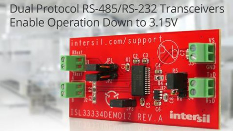 Intersil – 3.3V, ±15kV ESD Protected, Two Port, Dual Protocol (RS-232/RS-485) Transceivers