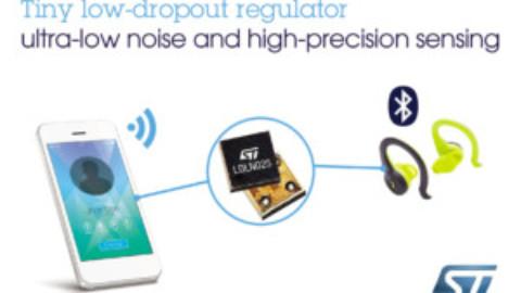 STMicroelectronics – LDLN025 – Winzige LDOs stellen rauscharme Versorgungsspannung für präzise Sensoranwendungen bereit