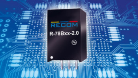 Recom – R-78Bxx-2.0 – New 2A switching regulator with high efficiency