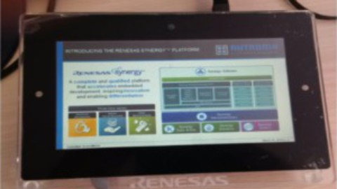 Synergy Flyer displaying on PE-HMI1