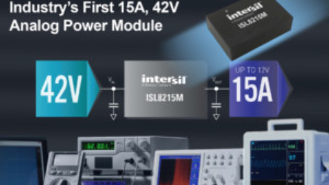 Intersil – ISL8215M – 15A 42V Single Channel High Efficiency DC to DC Step Down Power Module