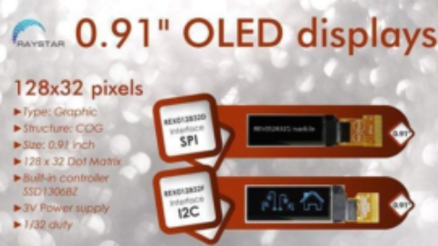 0,91″ OLED from Raystar!