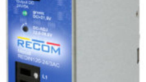 RECOM – REDIN120/3AC – 120 Watt 3 Phase DIN-Rail Power Supply