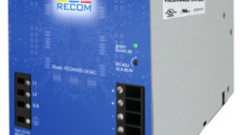 RECOM – REDIN480-24/3AC – 480 Watt 3 Phase DIN-Rail Power Supply