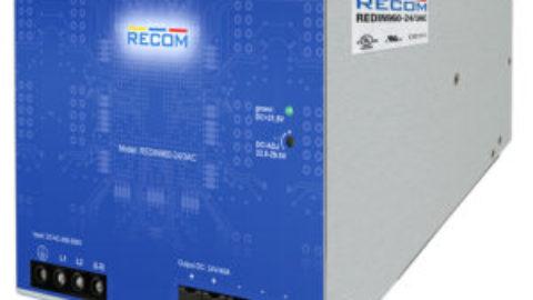 RECOM – REDIN960-24/3AC – 960 Watt 3 Phase DIN-Rail Power Supply
