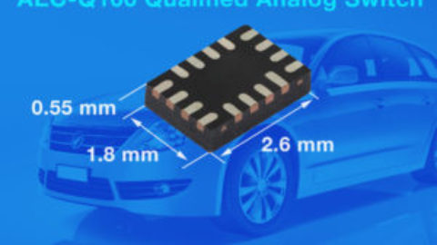 Vishay's DGQ2788A: Automotive qualified Dual DPDT / Quad SPDT Analog Switch with 0.37Ω, 338MHz Bandwidth.