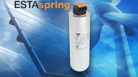 New PhMKP Series LVAC Power Capacitors With ESTAspring Are Industry's First to Feature Lever- Operated Spring Terminal Connection