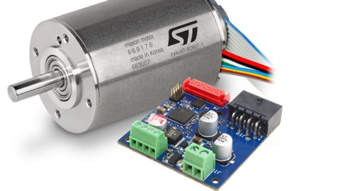 The EVALKIT-ROBOT-1 is an evaluation kit offering a ready-to-use servo brushless solution.