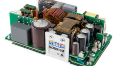 "RECOM – RACM550-G – 550W 3""x 5"" power supply features baseplate cooling for 2 x MOPP"