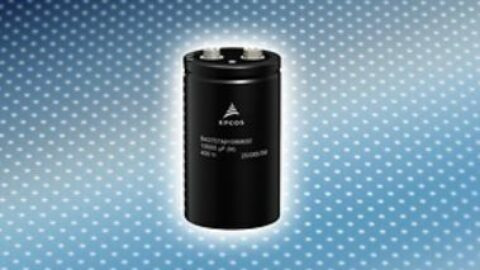 New EPCOS B43707 and B43727 series aluminum electrolytic capacitors