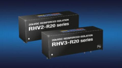 Recom – RHV2 & RHV3 Series – 2W and 3W SIP16 DC/DC converters with 20kVDC isolation