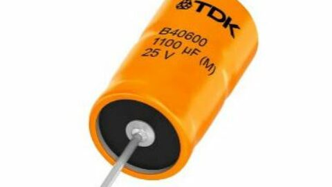 TDK: Extended range of axial hybrid-polymer aluminum electrolytic capacitors