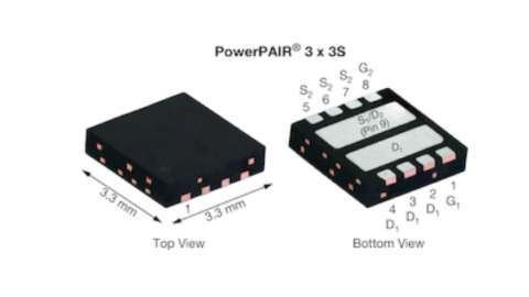 Vishay – SiZ240DT Integrated 40V MOSFET Half-Bridge Power Stage in PowerPAIR®Package
