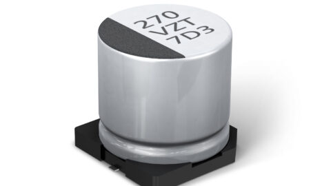 The new AEC-Q200 qualified ZT series of Conductive Polymer Hybrid Aluminum Electrolytic Capacitors from Panasonic Industry Europe exceeds conventional high current and high temperature performance.