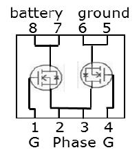 SSO8, Dual-MOSFET Pinout